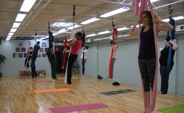 UNNATA Aerial Yoga with Jenn - Last Sundays!