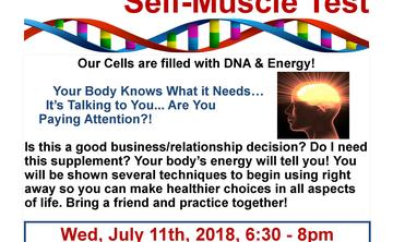 FREE Muscle Test & Live Blood Cell Seminar. 6:30pm-8pm  Donations appreciated