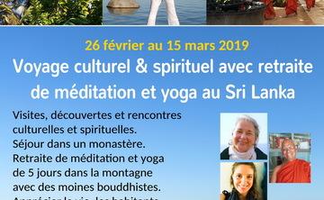 Voyage culturel & spirituel avec retraite de méditation et yoga au Sri Lanka