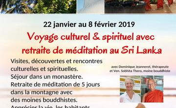 Voyage culturel & spirituel avec retraite de méditation au Sri Lanka