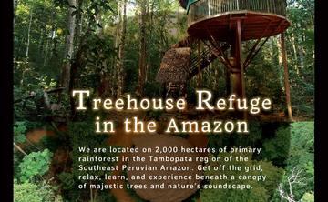 Amazonian Retreat Center Rental in Peru