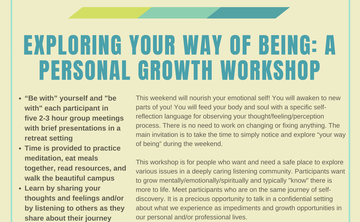 Exploring Your Way of Being: A Personal Growth Workshop to Launch 2019