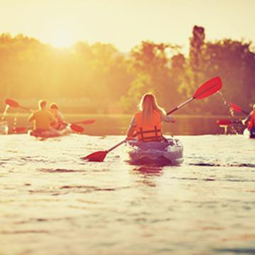 Yoga and Kayaking – August