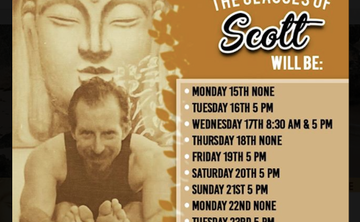 2 weeks only ! VINYASA & SOUND MEDITATION with SCOTT BAILEY at Yoga Shala in Tulum Mexico