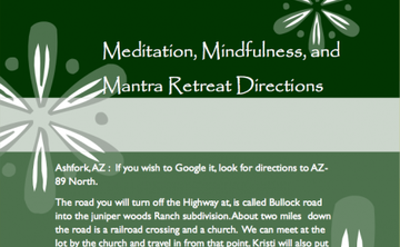 Meditation, Mindfulness, and Mantra Retreat
