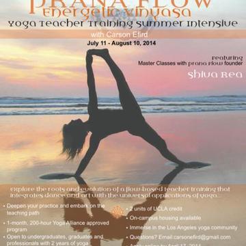 UCLA Summer Institute's Prana Flow: Energetic Vinyasa Yoga Teacher Training
