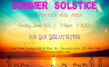 Summer Solstice Yoga Practice