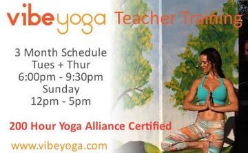 Vibe Yoga Teacher Training - 200 RYT