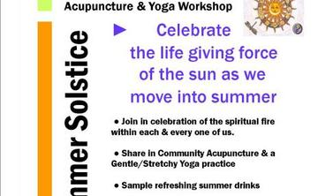 Gentle Yoga & Acupuncture for Summer Solstice