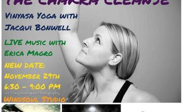 The Chakra Cleanse Vinyasa with Jacqui Bonwell - Live Music with Erica Magro