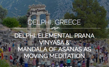 Delphi: Embodying Flow – Elemental Prana Vinyasa as Movement Meditation (elective counts as Intro Embodying the Flow/MOA with LIVE Online)