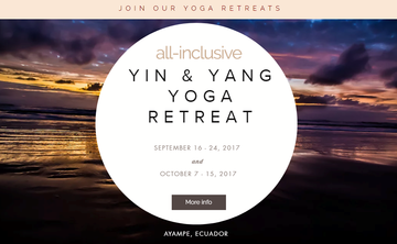 All-inclusive beach-front Yin & Yang Yoga Retreat in Ayampe, Ecuador