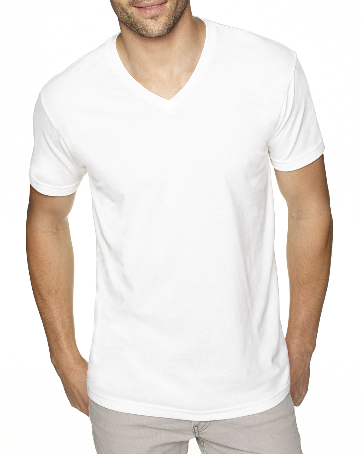 be1746313 'A picture of a Next Level Mens Premium Fitted Sueded V Neck Tee, ready. '