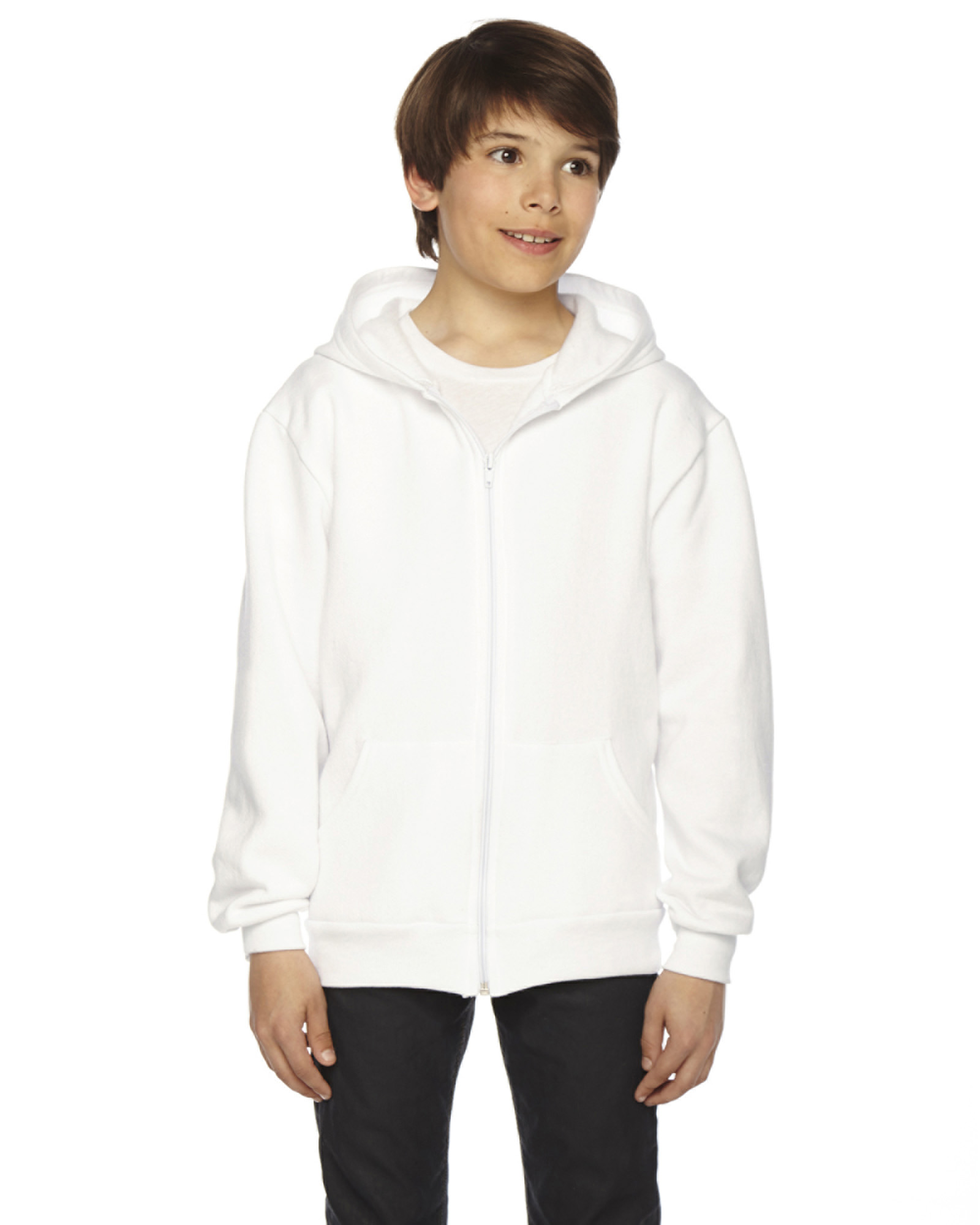 best sneakers 6e577 2d2f2  A picture of a American Apparel Youth Flex Fleece Zip Hoodie, ready to be.