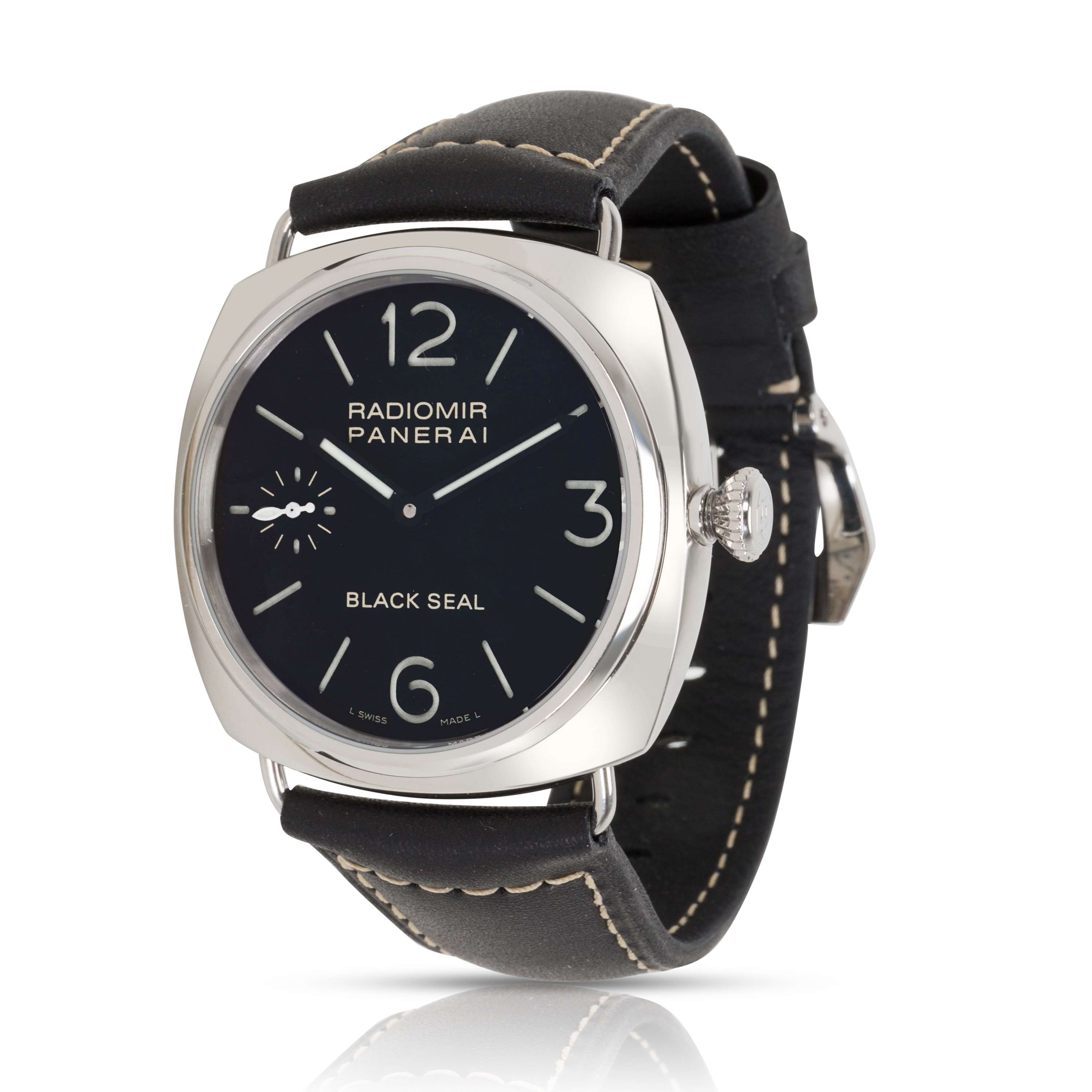 a77316f096eb Panerai Radiomir Black Seal PAM 00183 Mens Watch in Stainless Steel