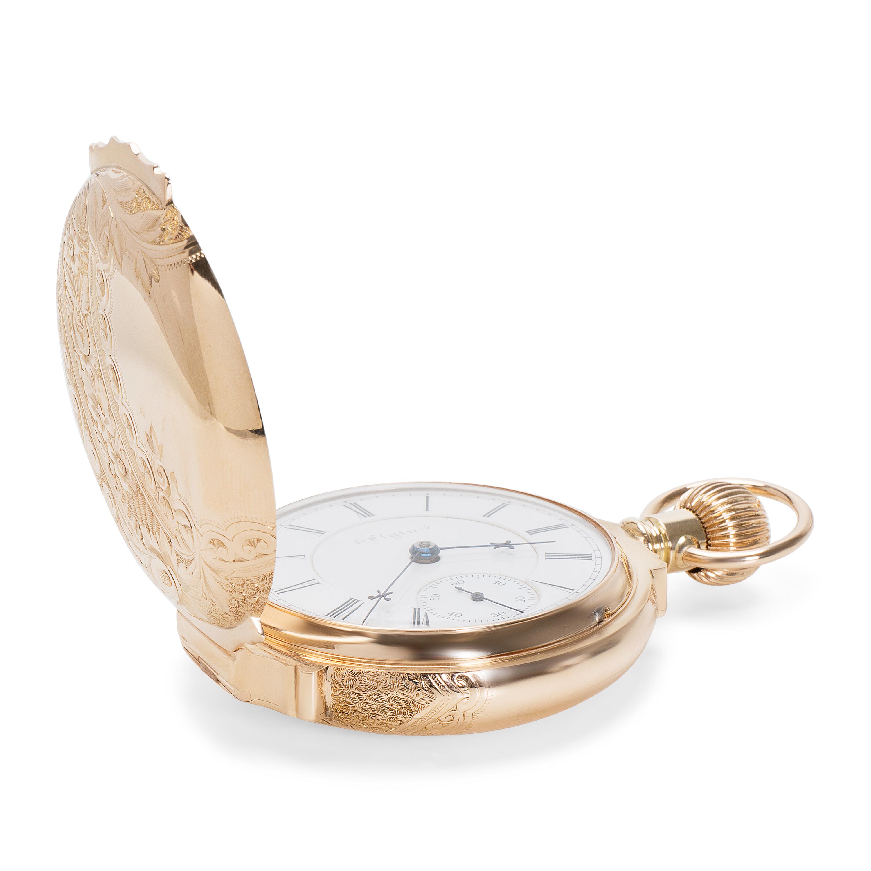 70f17bd3bdd8 Elgin Claro con Raymond Hombres Reloj en 14 Quilates Oro Amarillo