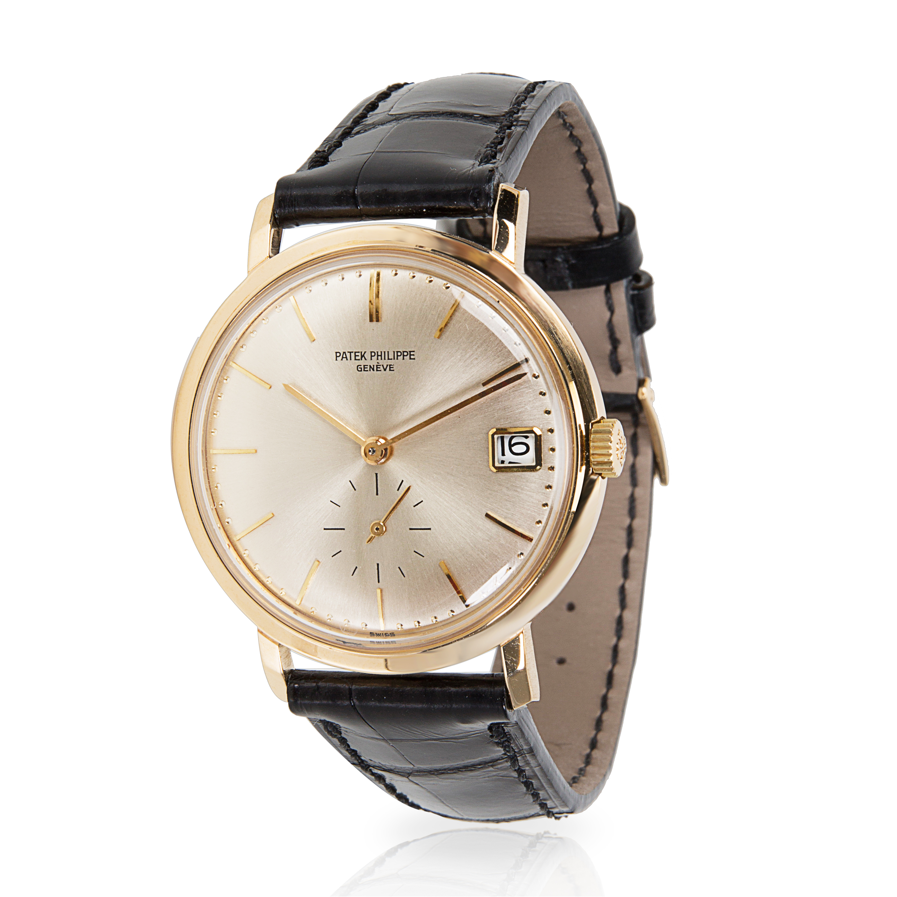 Patek-Philippe-Calatrava-3445J-Men-039-s-Watch-in-18kt-Yellow-Gold