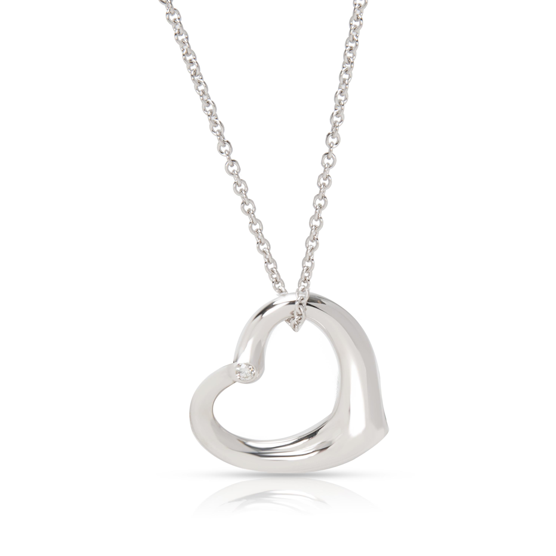 fefb8b0a5 Tiffany & Co. Elsa Peretti Open Heart with Diamond Necklace in ...