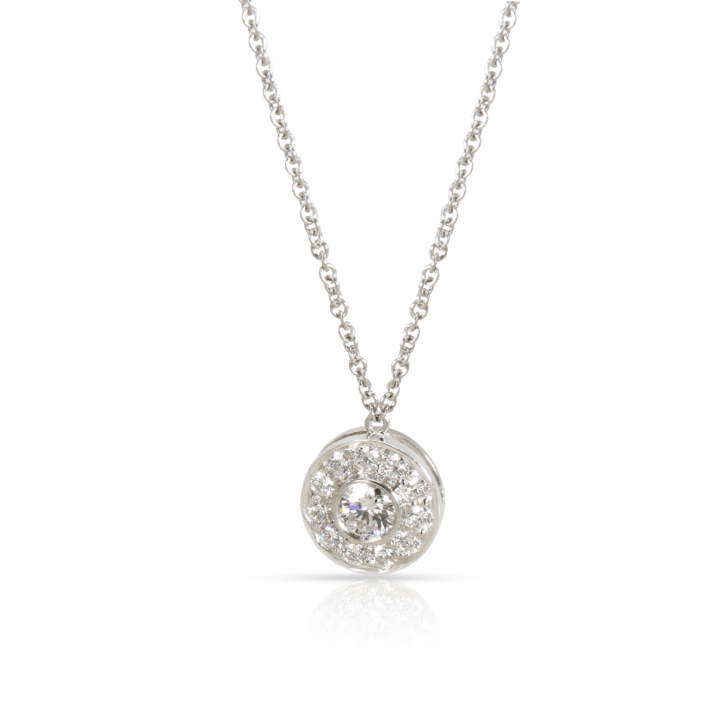 d1f4670fe5883 Details about Tiffany & Co. Circlet Diamond Pendant in Platinum 0.3 CTW