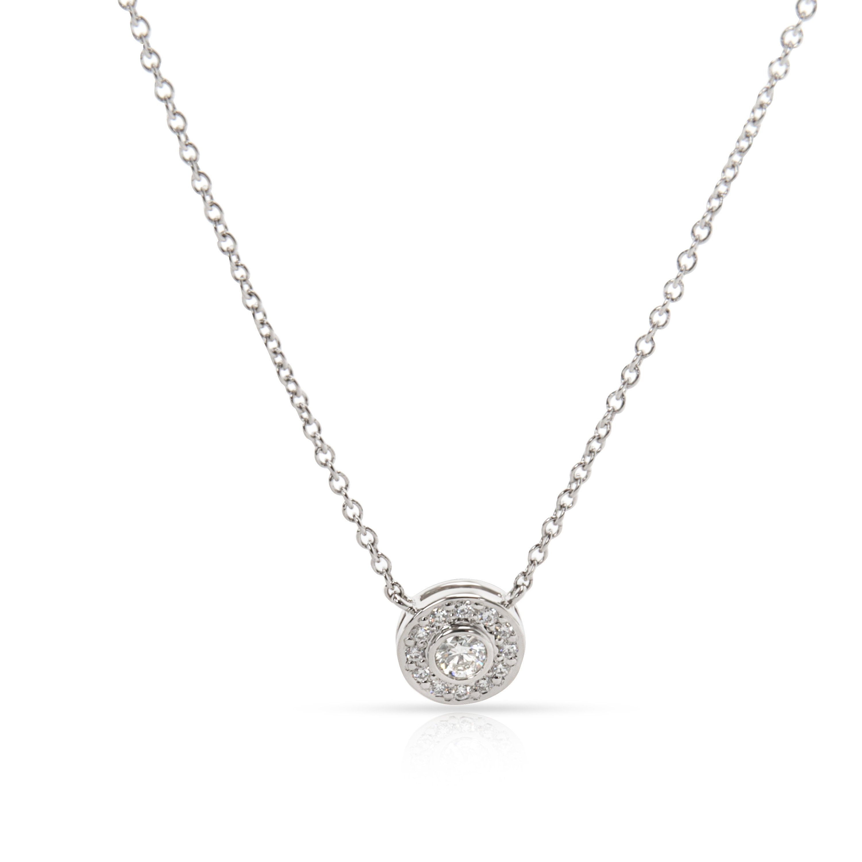 61ab8b4710a7e Details about Tiffany & Co. Circlet Diamond Necklace in Platinum (0.26 CTW)