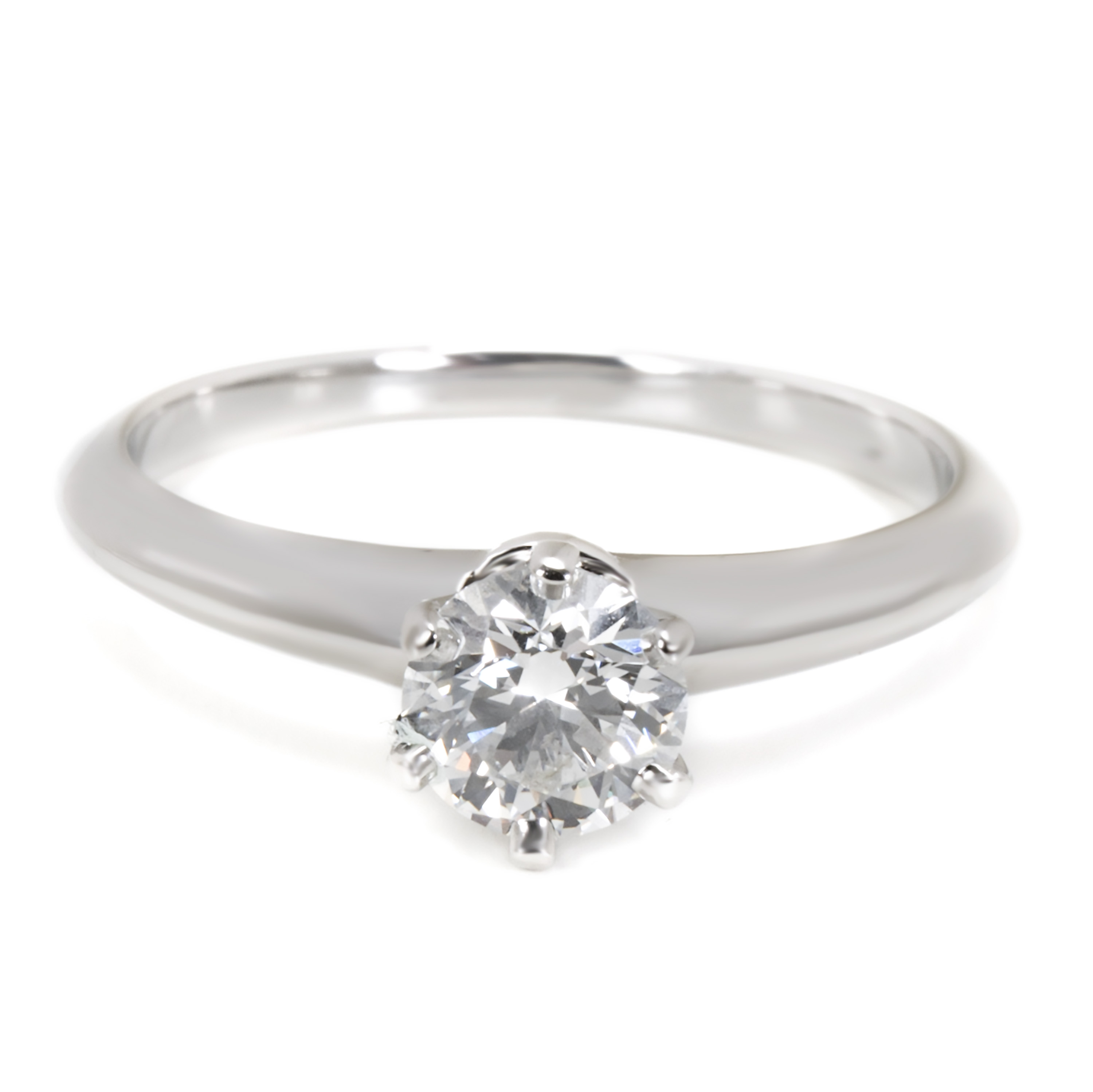 580a8c217f904 Details about Tiffany & Co. Diamond Engagement Ring in Platinum F VS1 0.62  CTW