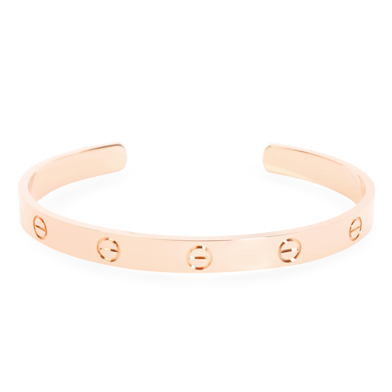f6d2368053a8 Cartier Love Cuff Bracelet in 18K Rose Gold (Size 19)
