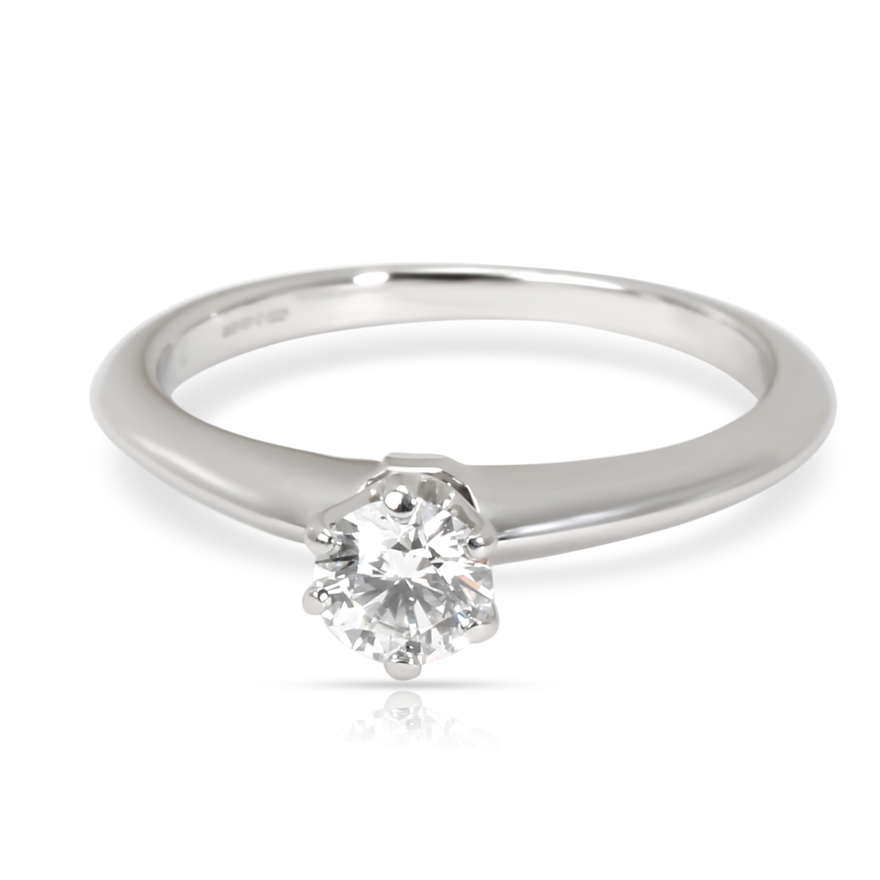 a056bcc75 Tiffany & Co. Solitaire Diamond Engagement Ring in Platinum E VVS2 ...