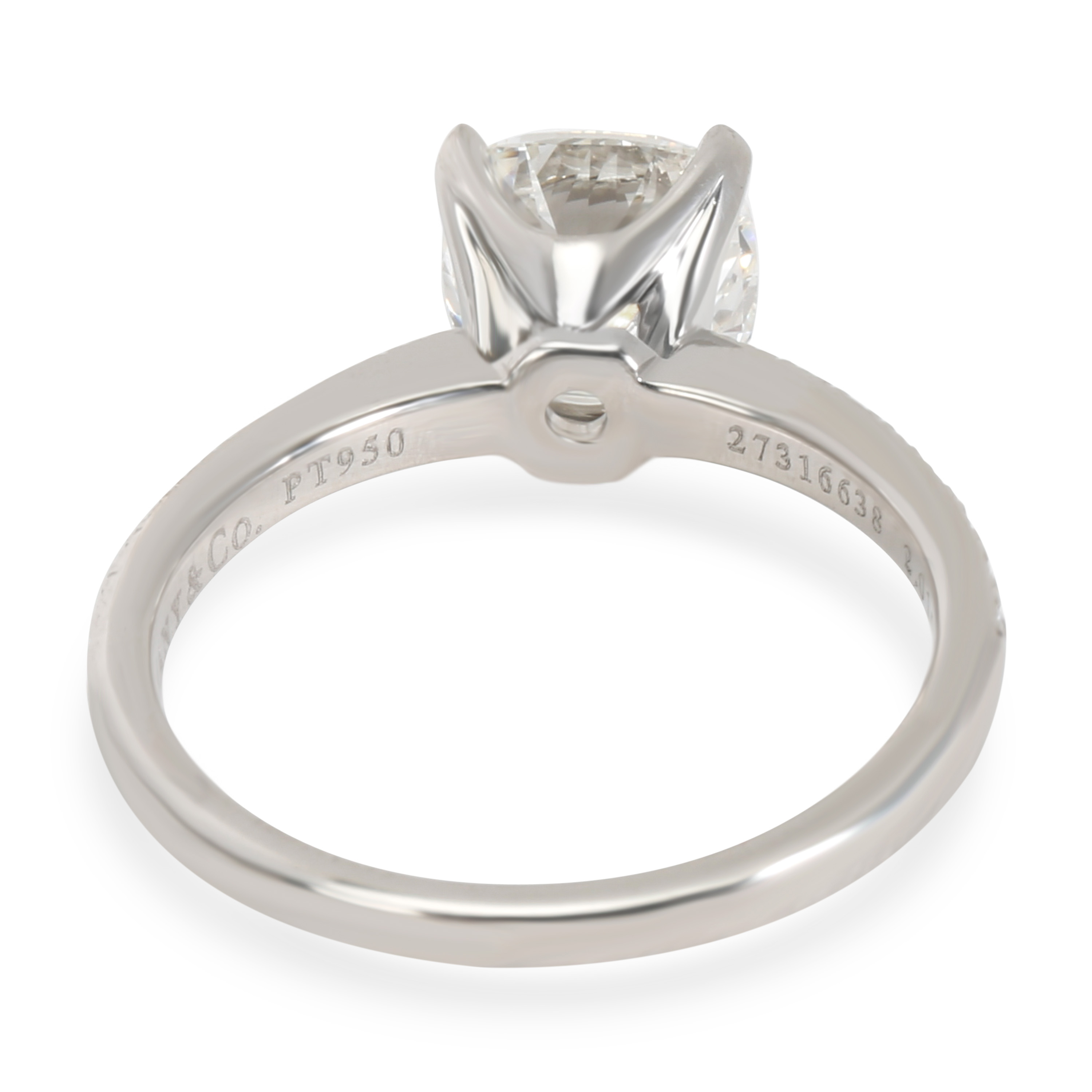96a0418cd Tiffany & Co. Novo Cushion Diamond Engagement Ring in Platinum G ...