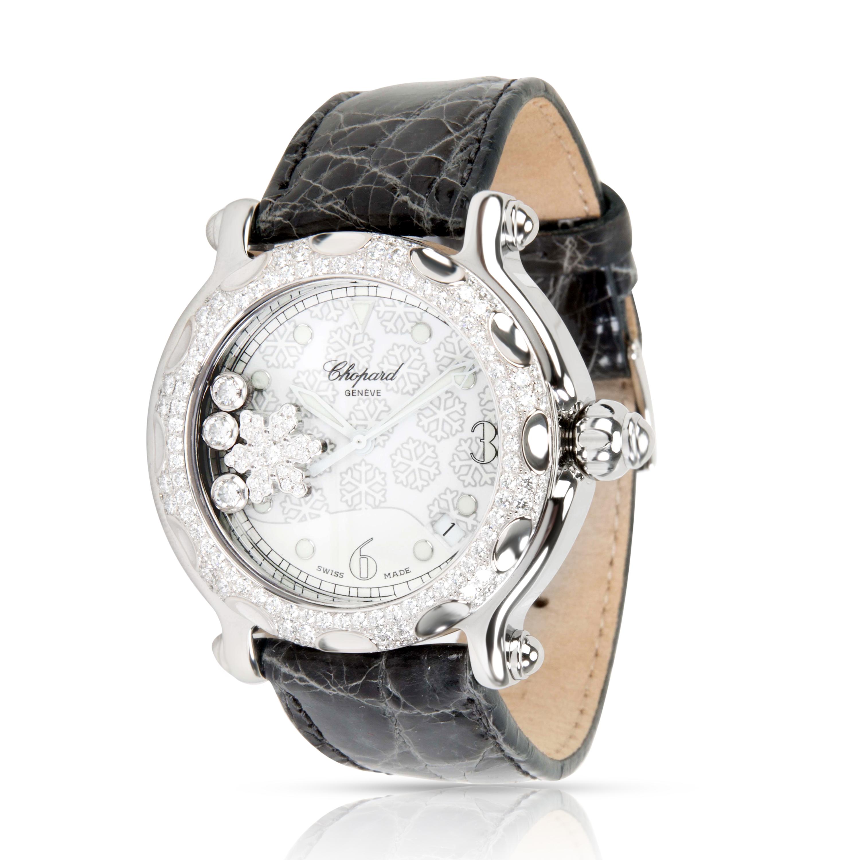 Chopard-Happy-Sport-288946-2001-Unisex-Snowflake-Watch-in-Steel-amp-18K-White-Gold
