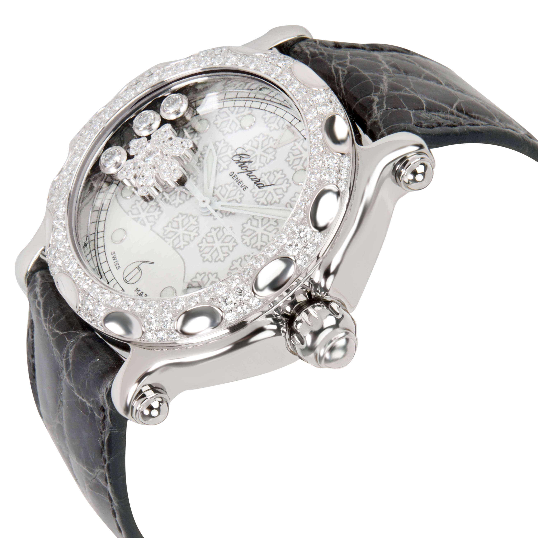 Chopard-Happy-Sport-288946-2001-Unisex-Snowflake-Watch-in-Steel-amp-18K-White-Gold miniatuur 3