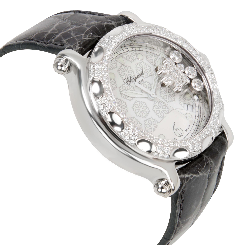 Chopard-Happy-Sport-288946-2001-Unisex-Snowflake-Watch-in-Steel-amp-18K-White-Gold thumbnail 2
