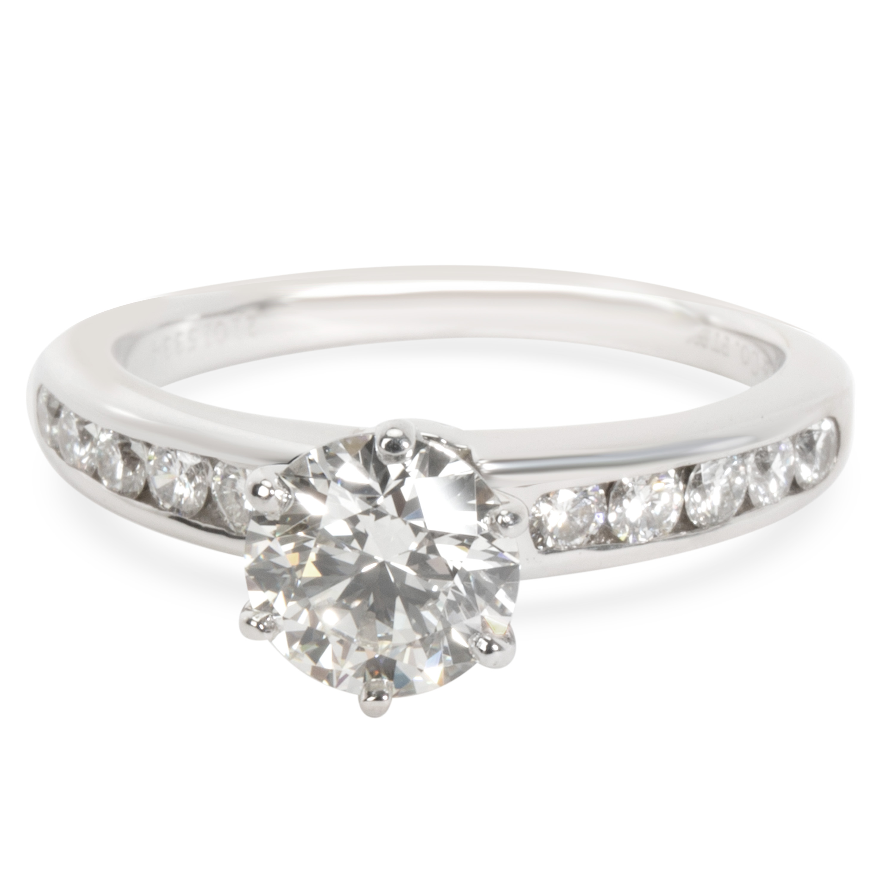 b55815d91d516 Details about Tiffany & Co. Channel Set Diamond Engagement Ring in Platinum  I VS1 1.38 CTW
