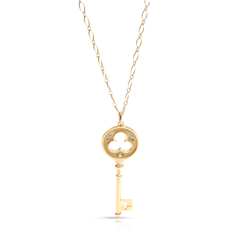 10K Yellow Gold 0.05ctw Diamond Key Pendant