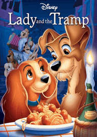 Lady And The Tramp Disney movie cover