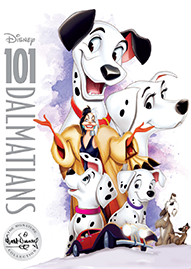 101 Dalmatians Disney movie cover