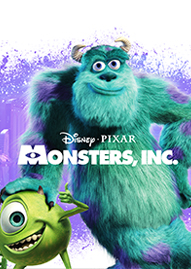 Monsters, Inc. Disney movie cover