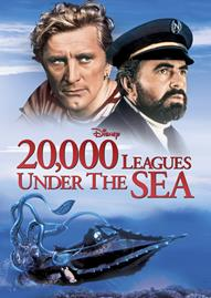 20,000 Leagues Under The Sea Disney movie cover
