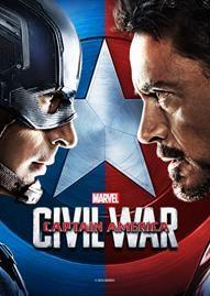 Captain America: Civil War Disney movie cover