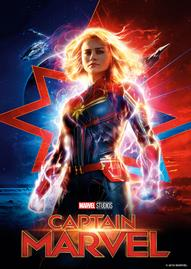 Captain Marvel Disney movie cover