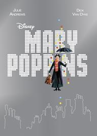 Mary Poppins Disney movie cover