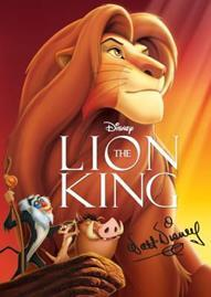 The Lion King Disney movie cover