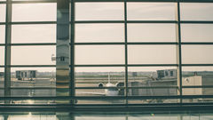 View through Airport Window