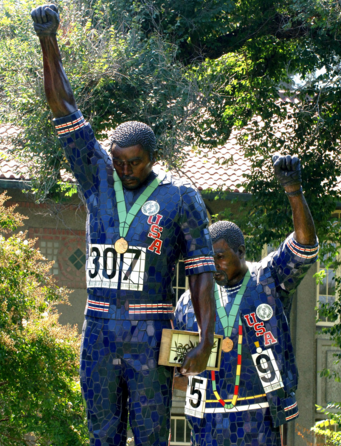 picture for The Tommie Smith and John Carlos sculpture at San Jose State University