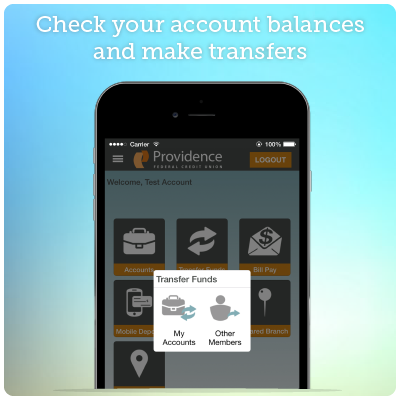 Mobile Banking Screenshot 1 - Check your account balances and make transfers.