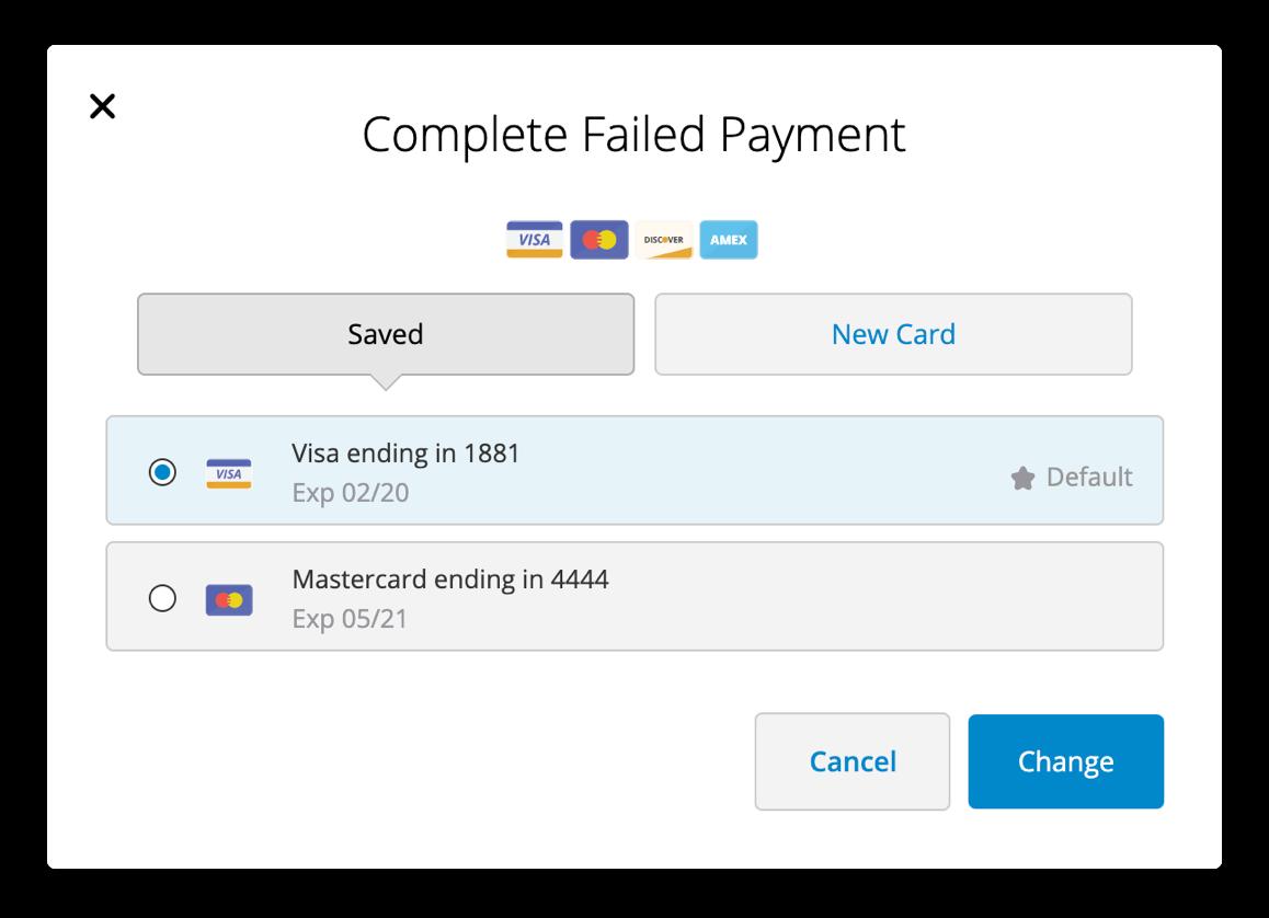 Failed payment