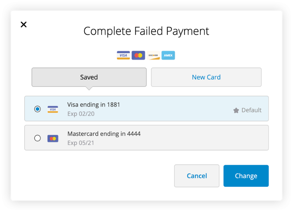 Complete Failed Payment