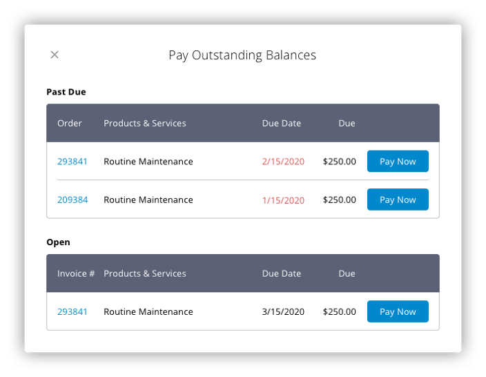Pay Outstanding Balances