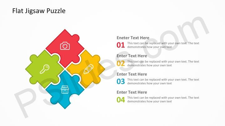 Flat Jigsaw Puzzle Powerpoint Template Pslides