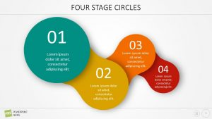 Free Four Stage Circle PowerPoint Diagram