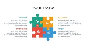 Free SWOT Jigsaw PowerPoint Template